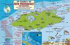 New Providence Bahamas Dive Map & Reef Creatures Laminated Fish Card Franko Maps
