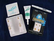 EAR PIERCING Kit Self-Piercing Personal GOLD HOOP+FREE Pair Earrings-STERILIZED