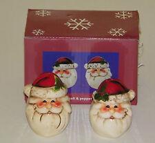 Christmas Salt & Pepper Shaker Set Santa Claus Head With Stocking Cap