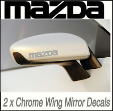 MAZDA CHROME WING MIRROR STICKERS RX-7 RX-8 MX-5 MX-6 Adhesive Graphic decals