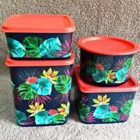 Tupperware - MAHALO Printed Square/Round containers, Exclusive, Limited Edition