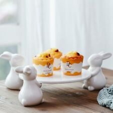 Bunny Rabbit Ceramic Plate,Dishes for Dessert Food Server Tray,Cute Cake Stand