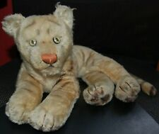 More details for beautiful old steiff? tiger aprox'  21 inches from paw to tail