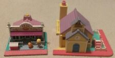 Polly Pocket Pet Shop dolls dog Store + School Pollyville Vintage 1993