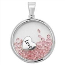 Collane e pendagli di lusso rosa con pietra principale zircone