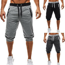 US Men Sport 3/4 Pants Casual Slack Jogging Sweatpant Jogger Gym Shorts Trousers