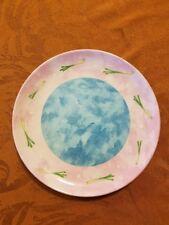 "Bois D'Arc SCALLIONS Salad Dessert Plate Essex Heather Outlaw Portugal 8 1/4"""