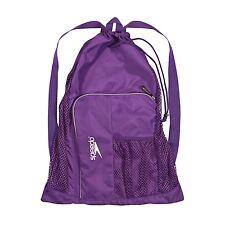 Speedo Swim Deluxe Ventilator Mesh Pool Gear Swimming Bag -Purple -Prism Violet