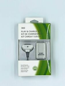 Play & Charge Kit White for XBOX 360 Game Hand Controller Battery USB Cable XB