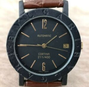 BVLGARI Carbon GOLD CORTINA Limited Edition only 400 MADE 34mm MID Sized Watch