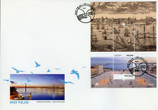 Portugal 2018 FDC Rio Tejo Tagus River 1v M/S Cover Ships Architecture Stamps