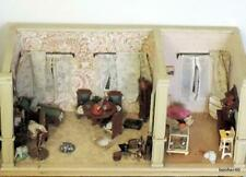 LARGE CHILDRENS ANTIQUE GERMAN DUTCH DOLL HOUSE 1920s GERMAN LIVING ROOMS