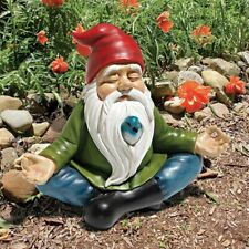 Meditating Gnome Yoga Zen Garden Gnome Flowerbed Elf Statue