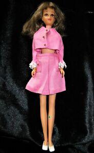 Vintage Mattel Barbie FRANCIE doll Twist n Turn BRUNETTE TAGGED PINK suit