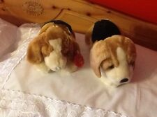 """TWO 9"""" DOGS KEEL TOYS"""