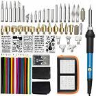 71PCS Wood Burning Kits Wood Burning Pens Pyrography Tool Kit 60W Soldering Iron