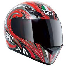 AGV K3 Evil Full Face Street Motorcycle Helmet Red Silver XSmall XS