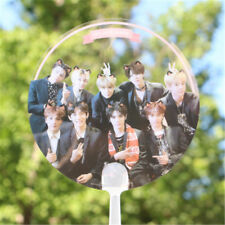 Portable KPOP NCT PVC Transparent Hand Fan Summer Handmade Cute Ten Mark TaeYong
