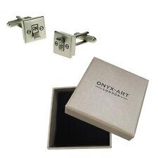 Mens Light Switch Joke Electrician Sparky Cufflinks & Gift Box By Onyx Art