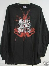 NEW - BLEEDING THROUGH BAND / CONCERT / MUSIC T-SHIRT LONG SLEEVE EXTRA LARGE