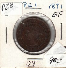 P28 PRINCE EDWARD ISLAND 1c ONE CENT 1871 ABOUT EF PRE-CONFEDERATION