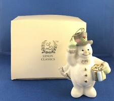 1998 Lenox Snowman With Present Christmas Ornament