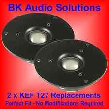 "2 x 1"" Silk soft dome 80w flat response Hi-Fi tweeter; KEF T27 Replacement"