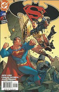 Superman Batman Comic 15 Cover A First Print 2005 Jeph Loeb Carlos Pacheco DC .