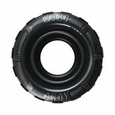 New KONG-Tires-Durable Rubber Chew Toy and Treat Dispenser for Power Chewers