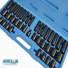 38 piezas Juego de llaves de Vaso métrico y Imperial Oscuro & Llano 1.3cm & 1cm