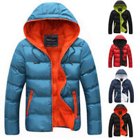 New Men's Down Coat Winter Hoodie Outerwear Jacket Hooded Warm Puffer Overcoat