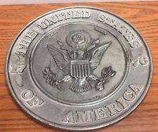 USA Bicentennial 1776 Hand Crafted Great Seal Metal Collector Plate DC6500 USA