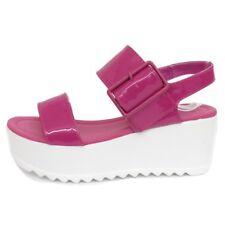Señoras Dolcis Rosa Plano Plataforma Zapatos Grueso Sandalias Cuña de forma Tamaños 3-8