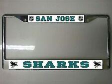 SAN JOSE SHARKS TEAM LOGO  NHL HOCKEY METAL LICENSE PLATE FRAME