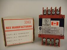 REX MANUFACTURING CONTROL TRANSFORMER CS57BC1H1-W/X *NEW IN BOX*