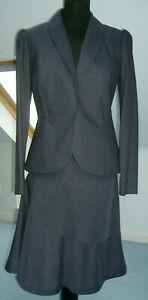 Vivienne Westwood flared Skirt & Jacket suit, blue fine wool UK 8, IT38, US 6