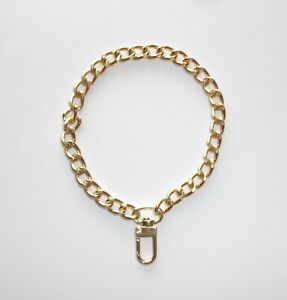 """Chunky Gold Tone 10"""" Cuban Link Dog Pet Jewelry no clasp Slide On only"""