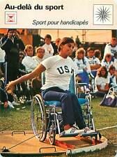 FICHE CARD Sport Handicapés Handicap Lancer Disque Handicapped Discus throw 70s