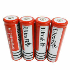 4X 3.7V 18650 Li-ion 6800mAh Rechargeable Battery for Flashlight Torch Headlamp