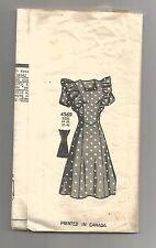 1940s Mail Order Anne Adams  #4569 Misses' ruffle type DRESS  sz18 B36 scarce