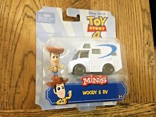 TOY STORY 4 MINIS WOODY and RV Truck character figures DISNEY Pixar NEW IN BOX