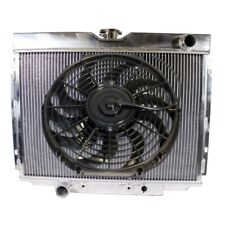 """3 Row Cooling Aluminum Radiator &16"""" Blade Fan For 67-70 Ford Mustang/Falcon V8"""