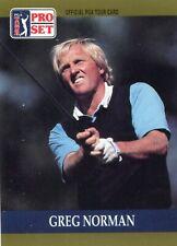 Greg Norman, 1990 Pro Set PGA Tour Golf Card # 50. WW S / H gratuit