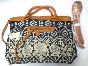$355 NWT Johnny Was Workshop Mela Overnight Tote Bag - OL44660721