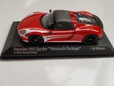 1/43 Minichamps Porsche 918 Spyder Weissach-Package 2015 Le Mans Racing Design .