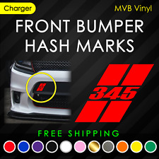 Front Bumper Hash Marks 345 Decal for Charger Cars