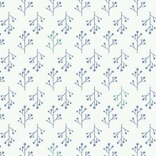 Ethereal Floral Twigs Periwinkle #4-3  Camelot Quilt Fabric by the 1/2 yd