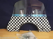 VESPA/LML CUPPINI FLYSCREEN IN BLACK & WHITE CHECK