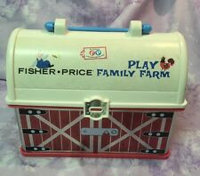 Fisher Price Play Family Farm Barn Lunchbox Purse Handbag Tote Travel Case