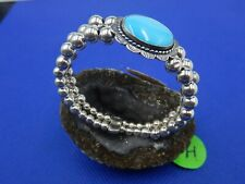 Carolyn Pollack Sterling Silver 925 Turquoise Relios Wrap Coil Bead Bracelet